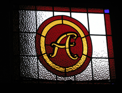 Athenaeum Liverpool stained glass window